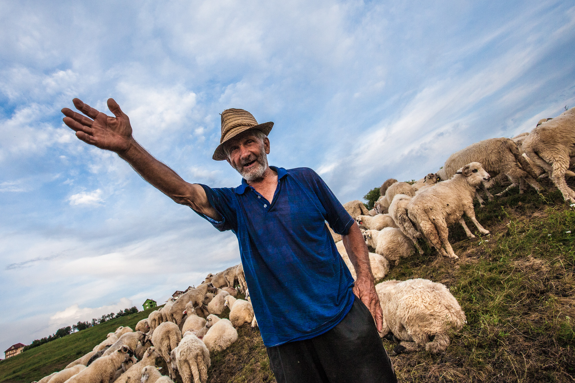 Farmer in Dej, Romania