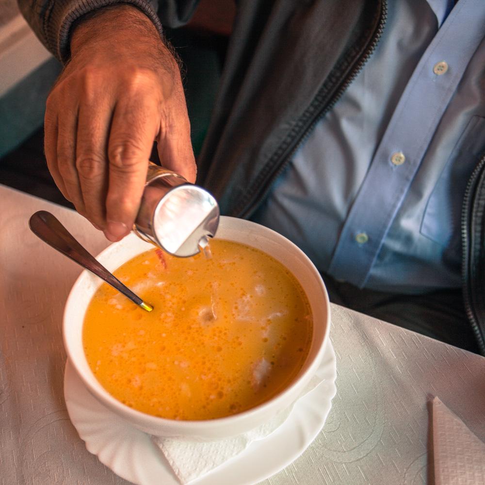 Ciorbă de burtă (tripe soup)
