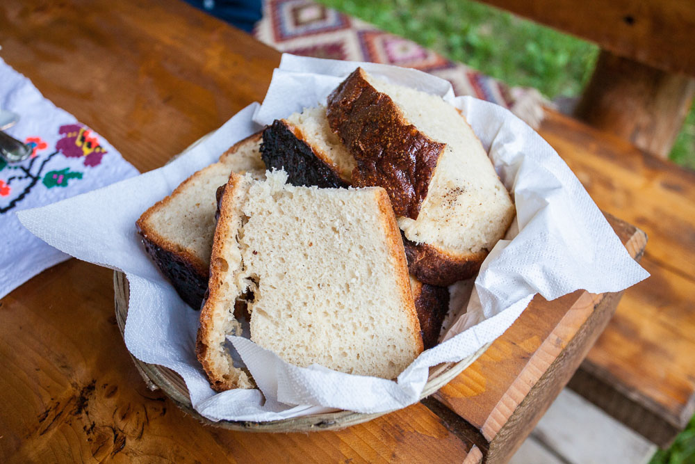 Fresh oven-cooked bread in Mara
