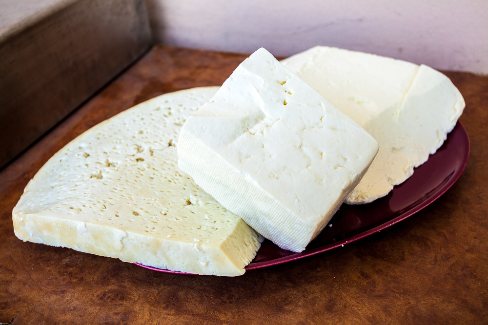 Romanian Cheeses (left to right: Cas, telemea, Urda)