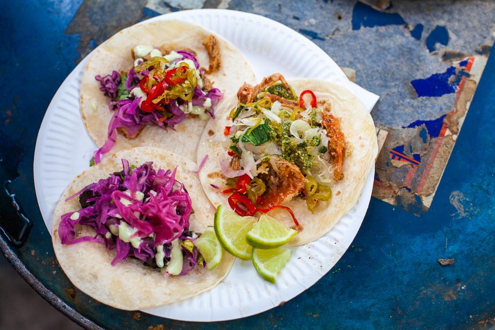 Taco trio by El Taco Truck