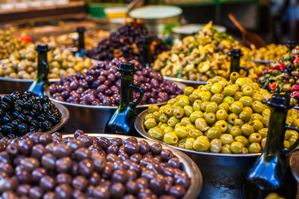 Olives, Carmel market, Tel Aviv, Israel