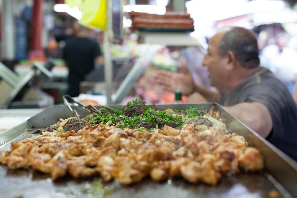 Meaty Lunch, Carmel market, Tel Aviv, Israel