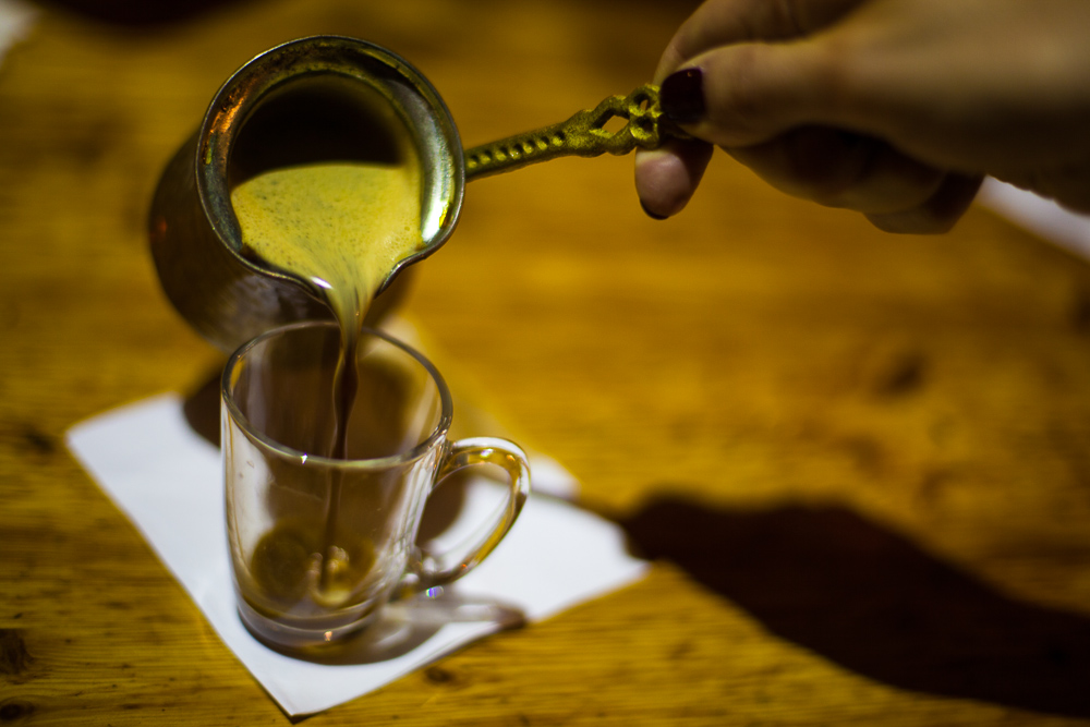 Turkish coffee, Fattoush, Haifa, Israel