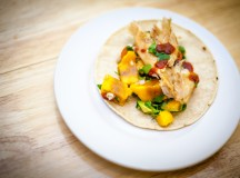 Smoked mackerel tacos with mango-avocado salsa